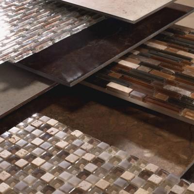 Close Up of Patterned Ceramic Tile Samples