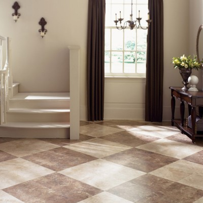 Traditional House with Brown and White Laminate Flooring