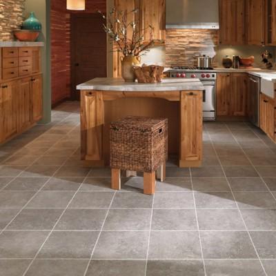 Tile Flooring in Large Kitchen