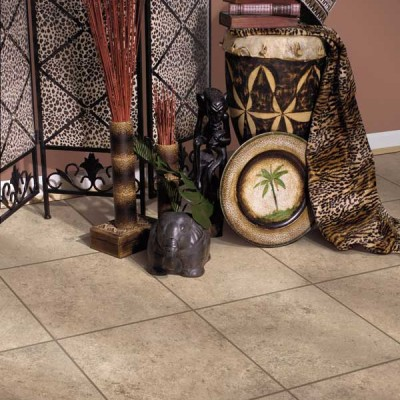 Safari Themed Room with Tile Floors
