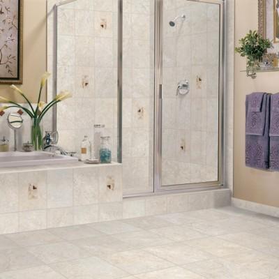 Contemporary Bathroom with Ceramic Walls and Flooring