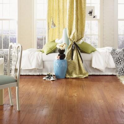 Hardwood Floors in Divided Children's Room