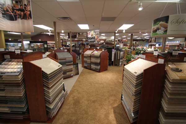 Room Carpet Samples in Store Showroom