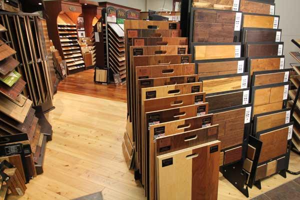 Hardwood Floor Selection at Menomonee Falls Showroom