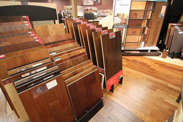 Hardwood Floor Sample Area at Malkin's