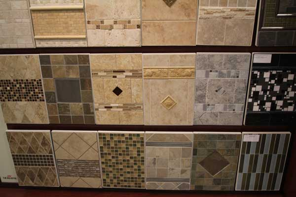Ceramic Tiles on Wall at Malkin's Showroom