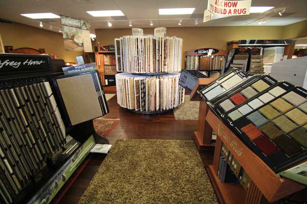 Rug and Carpet area in Menomonee Falls Showroom