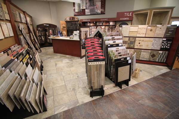 Ceramic Tile Information Desk at Malkin's Showroom