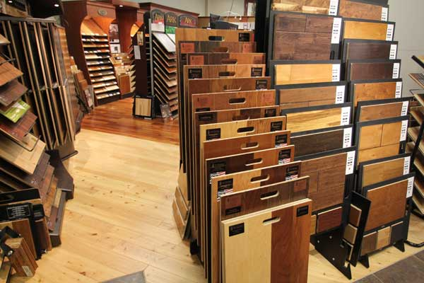 Hardwood Floor Selection at Menomonee Falls Showroom
