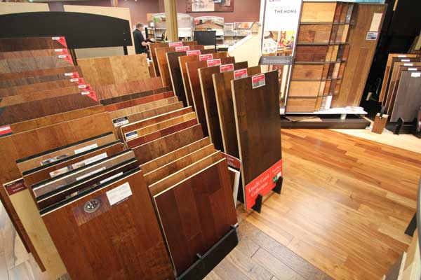Hardwood Floor Sample Area at Malkin's