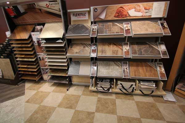 Flooring Samples at Menomonee Falls Showroom