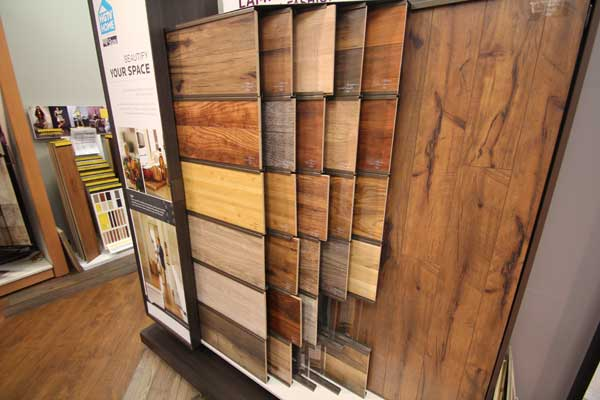 Hardwood Floor Samples in Showroom
