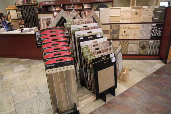 Laminate and Vinyl Flooring Samples at Menomonee Falls Store