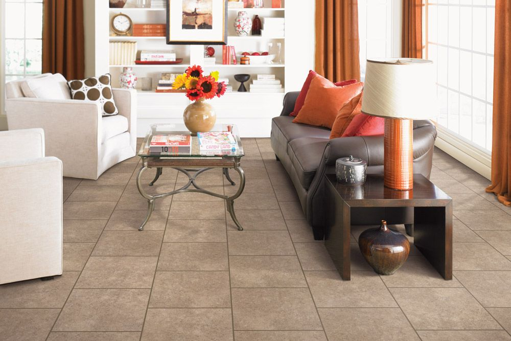 Ceramic Tile Flooring In Living Room