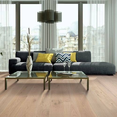 natural hardwood floors installed in living room