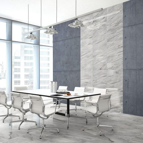 business meeting room with tile flooring