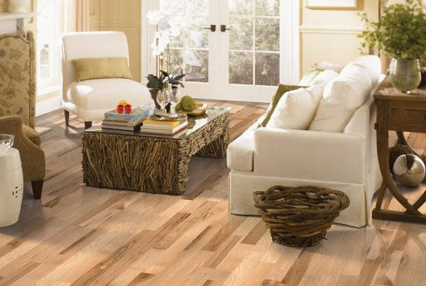 natural hardwood floors in living room